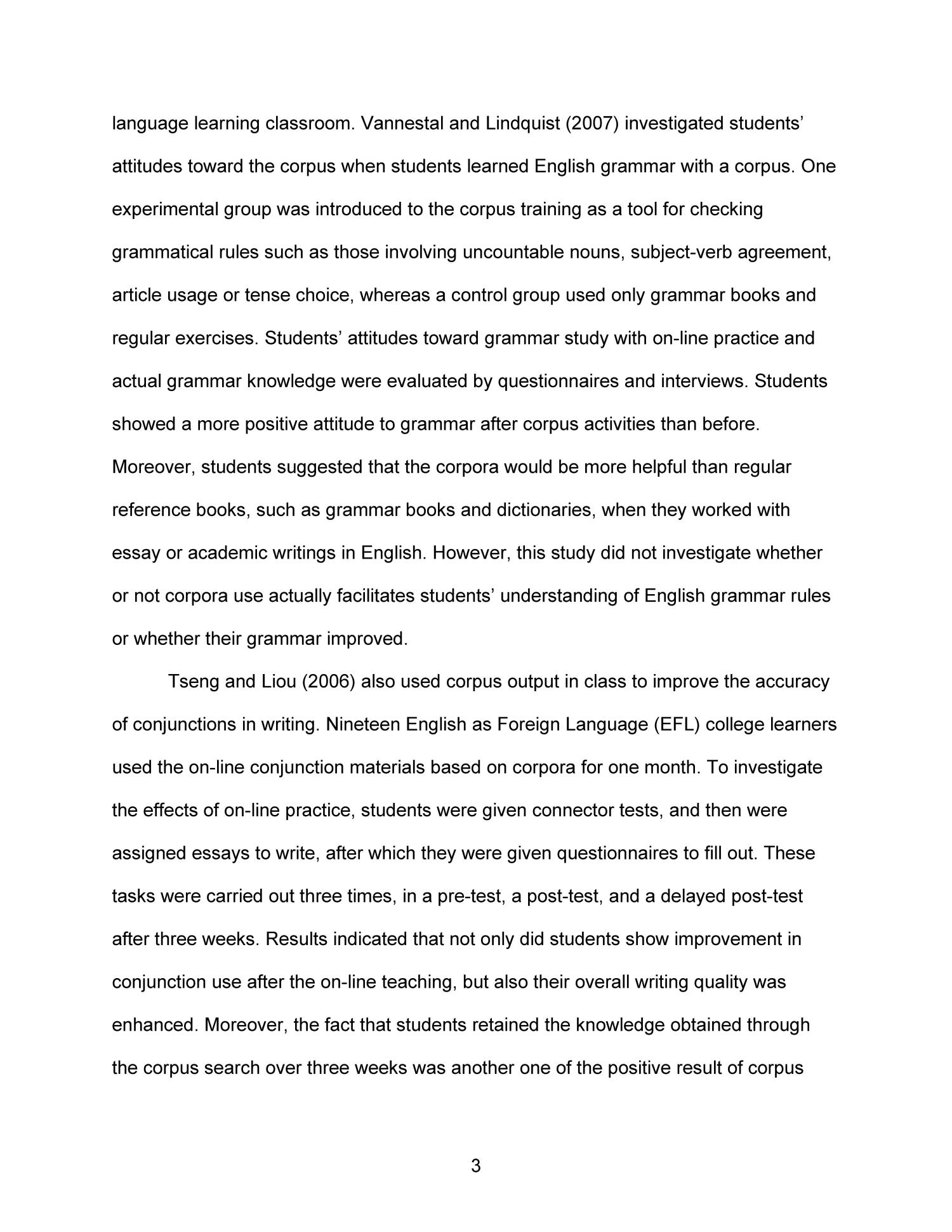Business Strategy Essay  What Is The Thesis Of An Essay also Argumentative Essay For College Effectiveness Of Online Corpus Research In L Writing  What Is Literature Essay