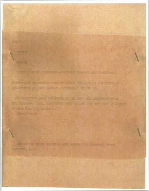 Primary view of object titled '[News Script: Basketball Coach Death]'.