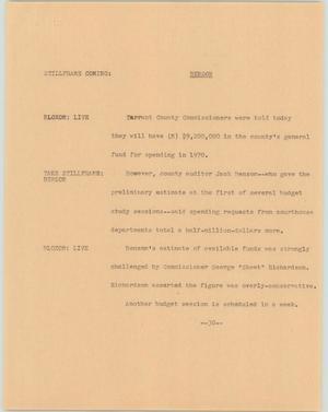 Primary view of [News Script: Benson]