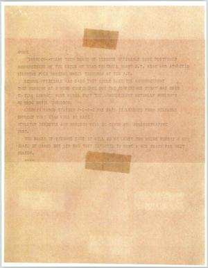Primary view of object titled '[News Script: Board of Regents]'.