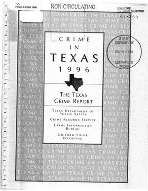 Primary view of object titled 'Texas Crime Report 1996'.