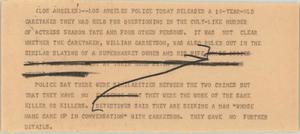 Primary view of object titled '[News Script: Tate]'.