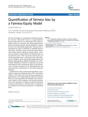 Quantification of fairness bias by a fairness-equity model