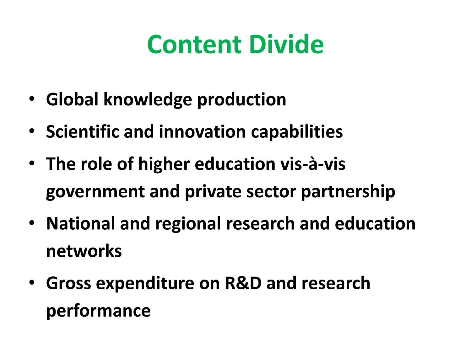 Content Divide: Africa and the Global Knowledge Footprint                                                                                                      [Sequence #]: 2 of 24