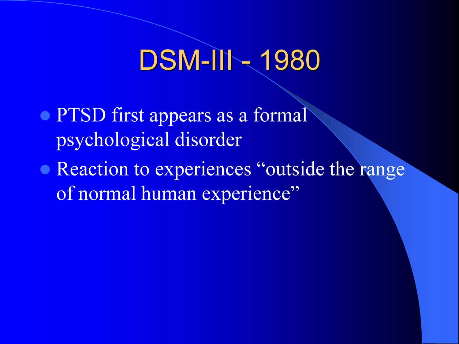 Posttraumatic Stress Disorder (PTSD): What is it and what causes it?                                                                                                      [Sequence #]: 6 of 17