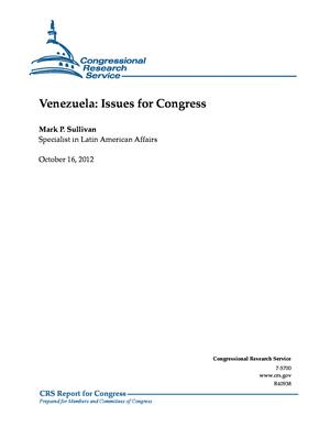 Venezuela: Issues for Congress