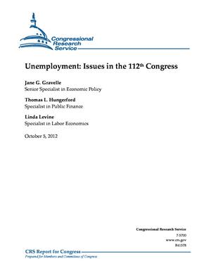 Unemployment: Issues in the 112th Congress