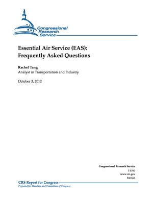 Essential Air Service (EAS): Frequently Asked Questions