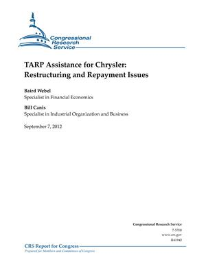 TARP Assistance for Chrysler: Restructuring and Repayment Issues