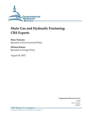 Shale Gas and Hydraulic Fracturing: CRS Experts
