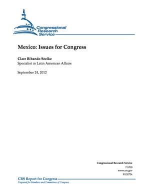 Mexico: Issues for Congress