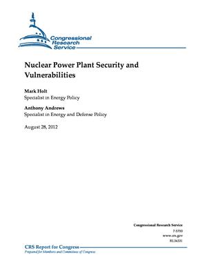 Nuclear Power Plant Security and Vulnerabilities