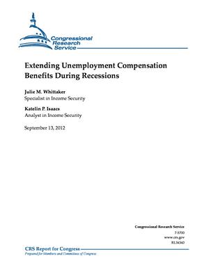 Extending Unemployment Compensation Benefits During Recessions