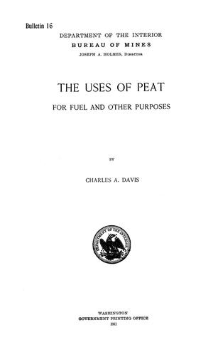 Primary view of object titled 'The Uses of Peat for Fuel and Other Purposes'.