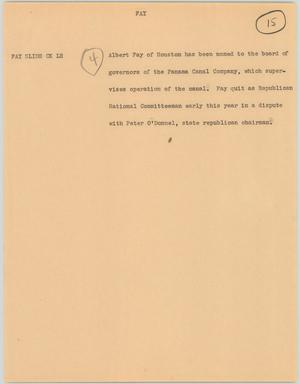 Primary view of object titled '[News Script: Fay]'.