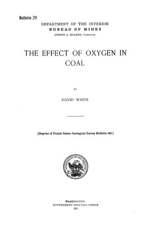 Primary view of object titled 'The Effect of Oxygen in Coal'.