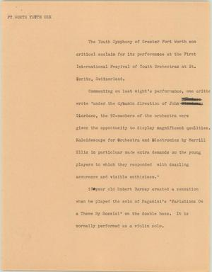 Primary view of object titled '[News Script: Ft. Worth youth orc]'.