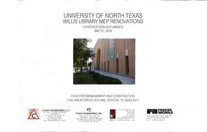 Primary view of object titled 'University of North Texas Willis Library MEP Renovations: Construction Documents'.