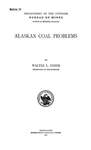 Primary view of object titled 'Alaskan Coal Problems'.