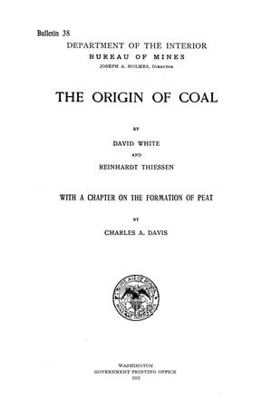 Primary view of object titled 'The Origin of Coal'.