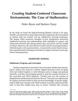 Primary view of object titled 'Creating Student-Centered Classroom Environments: The Case of Mathematics'.