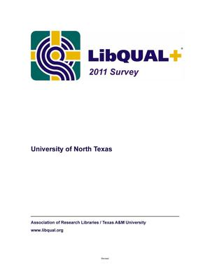 Primary view of object titled 'LibQual+ 2011 Survey: University of North Texas Libraries'.