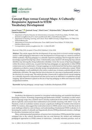 Concept Raps versus Concept Maps: A Culturally Responsive Approach to STEM Vocabulary Development