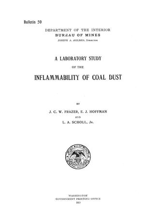 Primary view of object titled 'A Laboratory Study of the Inflammability of Coal Dust'.