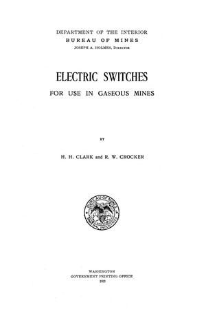 Primary view of object titled 'Electric Switches for use in Gaseous Mines'.