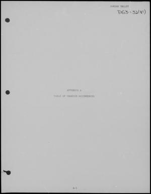 Primary view of object titled 'National Uranium Resource Evaluation: Jordan Valley Quadrangle, Oregon and Idaho, Appendix A.'.