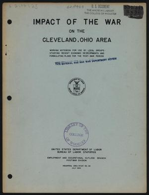 Primary view of object titled 'Impact of the War on the Cleveland, Ohio Area'.