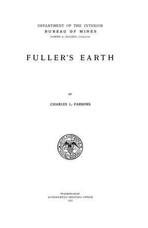 Primary view of object titled 'Fuller's Earth'.