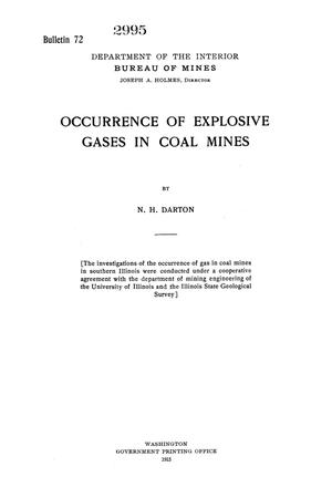 Primary view of object titled 'Occurrence of Explosive Gases in Coal Mines'.
