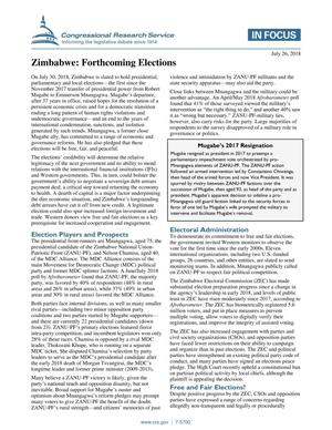 Primary view of object titled 'Zimbabwe: Forthcoming Elections'.