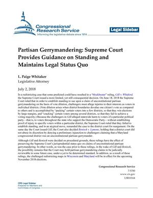 Partisan Gerrymandering: Supreme Court Provides Guidance on Standing and Maintains Legal Status Quo