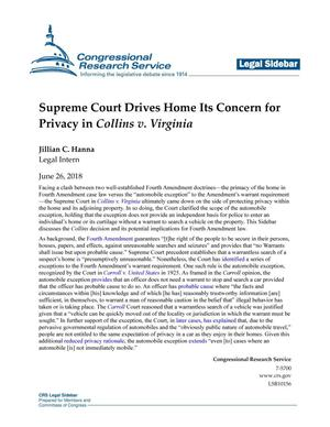 Supreme Court Drives Home Its Concern for Privacy in Collins v. Virginia