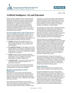 Artificial Intelligence (AI) and Education