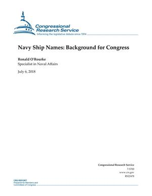 Primary view of object titled 'Navy Ship Names: Background for Congress'.
