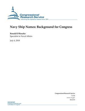 Navy Ship Names: Background for Congress