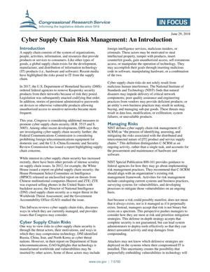 Primary view of object titled 'Cyber Supply Chain Risk Management: An Introduction'.