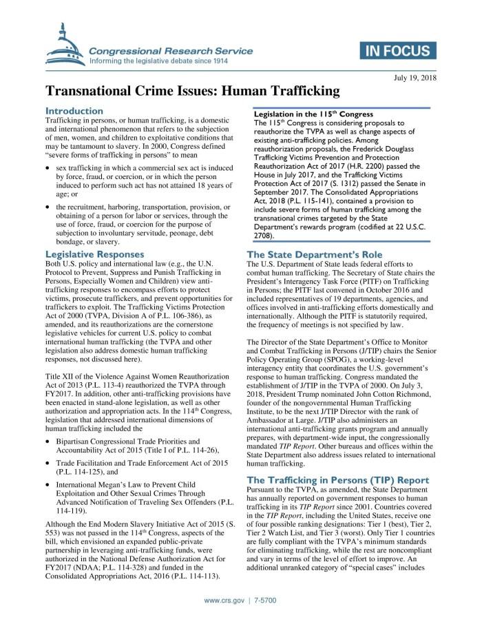 human trafficking essay pdf