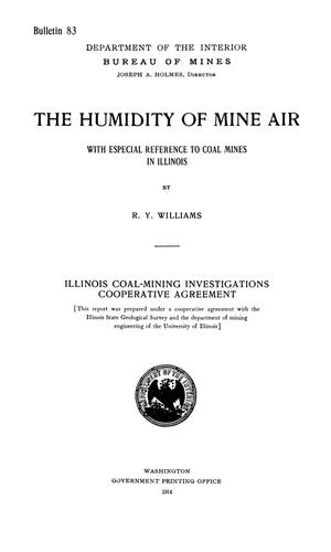 Primary view of object titled 'The Humidity of Mine Air with Especial Reference to Coal Mines in Illinois'.