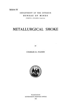 Primary view of object titled 'Metallurgical Smoke'.