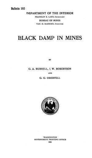 Primary view of object titled 'Black Damp in Mines'.