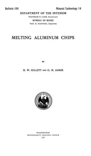 Primary view of object titled 'Melting Aluminum Chips'.