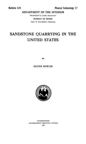 Sandstone Quarrying in the United States