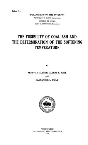 Primary view of object titled 'The Fusibility of Coal Ash and the Determination of the Softening Temperature'.