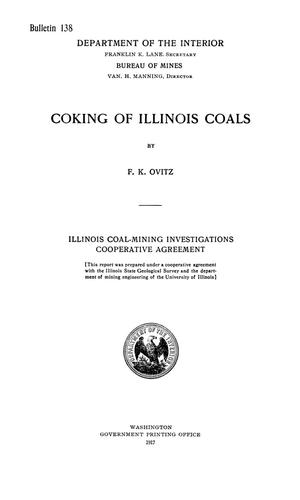 Primary view of object titled 'Coking of Illinois Coals'.