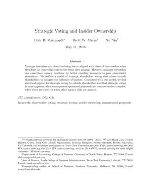 Strategic Voting and Insider Ownership