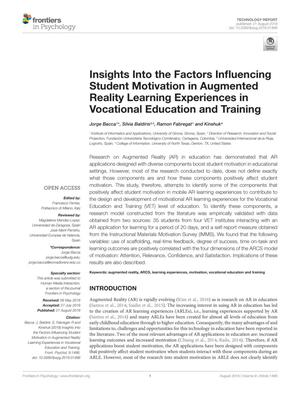 Insights Into the Factors Influencing Student Motivation in Augmented Reality Learning Experiences in Vocational Education and Training